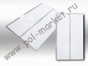 Пластиковые панели Урал-пласт, Луиза серебро 2-х ручейковая лак (3000*250*9) 5710