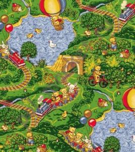 Купить МАЛИНОВКА (детский) Детский ковролин Нева Тафт, Малиновка 630, ширина 4 метра (нарезка)  в Екатеринбурге