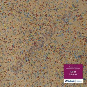 Линолеум Tarkett (Таркетт), Extra (Экстра), VIVID 14, ширина 3 метра, акустический-гетерогенный (ОПТ)