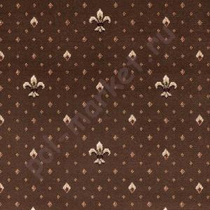 Ковролин Balta (Балта), Wellington (Веллингтон), 4957-80, Коричневый, ширина 4 метра, тканый (розница)