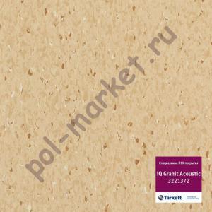 Линолеум Tarkett (Таркетт), iQ Granit Acoustic, 3221372, коричневый, ширина 2 метра, акустический-гомогенный (ОПТ)