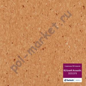 Линолеум Tarkett (Таркетт), iQ Granit Acoustic, 3221375, т.коричневый, ширина 2 метра, акустический-гомогенный (ОПТ)
