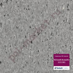 Линолеум Tarkett (Таркетт), iQ Granit Acoustic, 3221383, т.серый, ширина 2 метра, акустический-гомогенный (ОПТ)