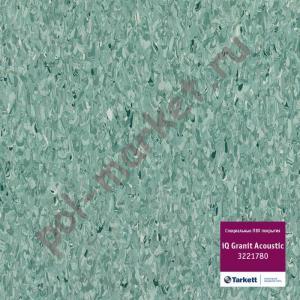 Линолеум Tarkett (Таркетт), iQ Granit Acoustic, 3221780, т.зеленый, ширина 2 метра, акустический-гомогенный (ОПТ)