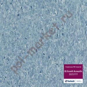 Линолеум Tarkett (Таркетт), iQ Granit Acoustic, 3221777, т.синий, ширина 2 метра, акустический-гомогенный (ОПТ)