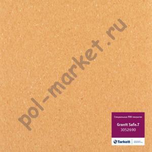 Купить IQ GRANIT SAFE T - противоскользящий Линолеум Tarkett (Таркетт), IQ GRANIT SAFE T, 3052690, желто-оранжевый, ширина 2 метра, противоскользящий-гомогенный (ОПТ)  в Екатеринбурге