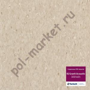 Линолеум Tarkett (Таркетт), iQ Granit Acoustic, 3221421, коричневый, ширина 2 метра, акустический-гомогенный (ОПТ)