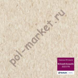 Линолеум Tarkett (Таркетт), iQ Granit Acoustic, 3221770, коричневый, ширина 2 метра, акустический-гомогенный (ОПТ)