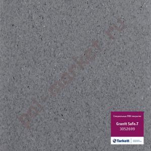 Купить IQ GRANIT SAFE T - противоскользящий Линолеум Tarkett (Таркетт), IQ GRANIT SAFE T, 3052699, черно-серый, ширина 2 метра, противоскользящий-гомогенный (ОПТ)  в Екатеринбурге