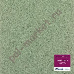 Купить IQ GRANIT SAFE T - противоскользящий Линолеум Tarkett (Таркетт), IQ GRANIT SAFE T, 3052694, зеленый, ширина 2 метра, противоскользящий-гомогенный (ОПТ)  в Екатеринбурге