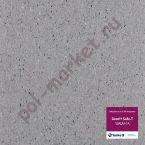 Купить IQ GRANIT SAFE T - противоскользящий Линолеум Tarkett (Таркетт), IQ GRANIT SAFE T, т.серый, ширина 2 метра, противоскользящий-гомогенный (ОПТ)  в Екатеринбурге