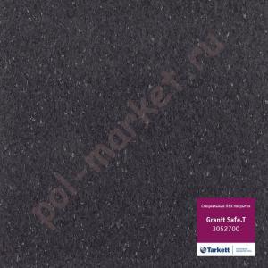 Купить IQ GRANIT SAFE T - противоскользящий Линолеум Tarkett (Таркетт), IQ GRANIT SAFE T, 3052700, черный, ширина 2 метра, противоскользящий-гомогенный (ОПТ)  в Екатеринбурге