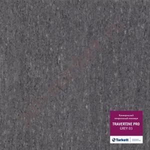 Купить  TRAVERTINE PRO (КМ2) - коммерческий гетерогенный Линолеум Tarkett (Таркетт), Travertine PRO (Травертин ПРО), GREY 03, ширина 3 метра, коммерческий-гетерогенный (ОПТ)  в Екатеринбурге