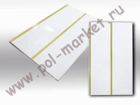 Пластиковые панели Урал-пласт, Луиза золото 2-х ручейковая лак (3000*250*9) 5711