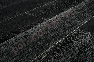 Паркетная доска Amber wood дуб черно-белый 189мм