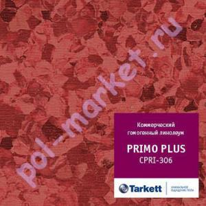 Линолеум Tarkett (Таркетт), Primo Рlus (Примо Плюс), 306, красный, ширина 2 метра, коммерческий-гомогенный (ОПТ)