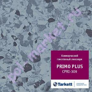 Линолеум Tarkett (Таркетт), Primo Рlus (Примо Плюс), 309, синий, ширина 2 метра, коммерческий-гомогенный (ОПТ)