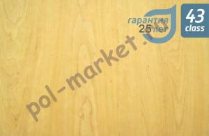 Клеевое ПВХ покрытие Aquafloor (2мм, 0.5мм, 43кл) AF5501 GLUE Бук натуральный