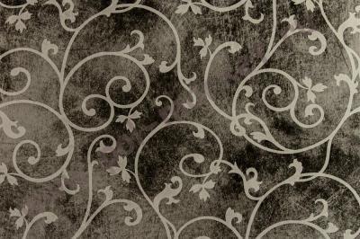 Пластиковые панели Venta (вента), ИМПРЕССА-ВИНТАЖ черное серебро (2600*375*8) 104Н