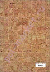Клеевое пробковое покрытие CorkStyle (КоркСтиль), Natural Cork (Натурал Корк), Mosaik
