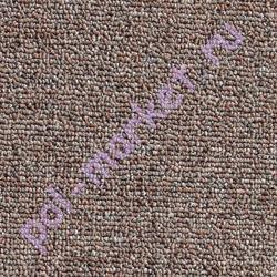 Ковролин Зартекс, Хальброн, 69, Т.коричневый, ширина 4 метра, низкий ворс (розница)