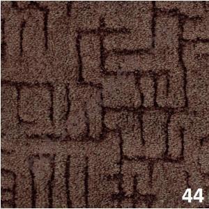 Ковролин Калинка, Канны, 44, коричневый, ширина 4 метра, низкий ворс (розница)