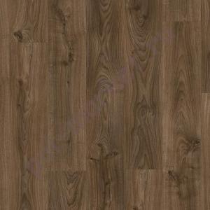 Замковая пвх плитка Quick step Balance click BACL40027 дуб коттедж темно-коричневый