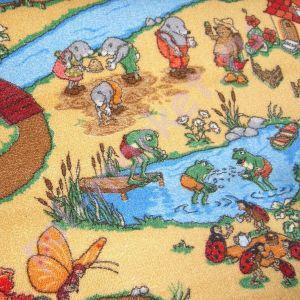Купить РУЧЕЕК (детский) Детский ковролин Калинка, Ручеек, 30, Бежевый, ширина 4 метра (нарезка)  в Екатеринбурге