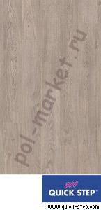 Ламинат Quick step (Квик Степ), Perspective (Перспектив, 32кл, 9.5мм, 4V-фаска) UF1406 Доска дуба светло-серого старинного