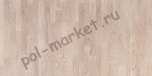 Паркетная доска Polarwood (Поларвуд), ДУБ TUNDRA WHITE MATT, 3-полосный