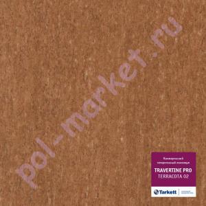 Купить  TRAVERTINE PRO (КМ2) - коммерческий гетерогенный Линолеум Tarkett (Таркетт), Travertine PRO (Травертин ПРО), TERRACOTTA 02, ширина 4 метра, коммерческий-гетерогенный (ОПТ)  в Екатеринбурге