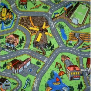Купить ГОРОДОК (детский) Детский ковролин Калинка, Городок 20, ширина 4 метра (нарезка)  в Екатеринбурге