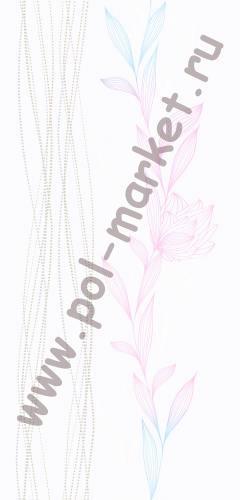 Пластиковые панели Экопласт, Ирис нежный (2700*250*9) 0124/2