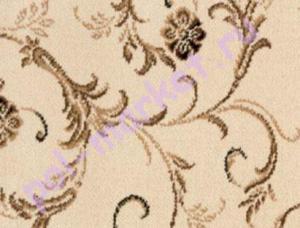 Ковролин Balta (Балта), Sandringham wilton, Babylon Garden 2103-55, Белый, ширина 4 метра, тканый (розница)