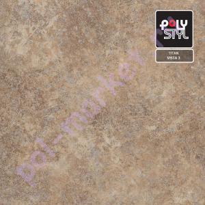 Купить TITAN - полукоммерческий Линолеум Polystyl (Полистил), Titan (Титан), VISTA 3, ширина 4 метра, полукоммерческий (ОПТ)  в Екатеринбурге