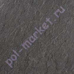 Купить квадраты ПВХ плитка клеевая Decoria (Декория), Office (Оффис, 3мм, 0.5мм, 43кл, КВ) DMS250, Мрамор Черный  в Екатеринбурге