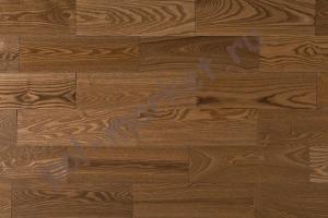 Массивная доска Amber Wood (Амбер Вуд), Ясень Светлый орех (Браш, лак), 120мм