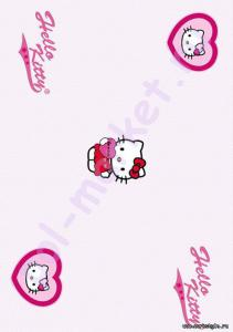 Пробковый паркет CorkStyle (КоркСтиль), Hello Kitty&Snoopy (Хэллоу Китти Энд Снуппи), Valentines Heart, 33 класс