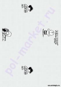 Пробковый паркет CorkStyle (КоркСтиль), Hello Kitty&Snoopy (Хэллоу Китти Энд Снуппи), Peanuts Classic, 33 класс