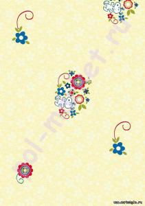 Пробковый паркет CorkStyle (КоркСтиль), Hello Kitty&Snoopy (Хэллоу Китти Энд Снуппи), Snoopy Flowers, 33 класс