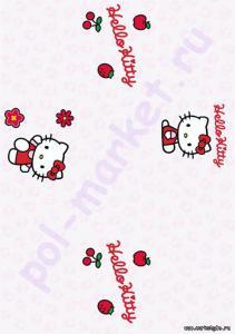 Клеевое пробковое покрытие CorkStyle (КоркСтиль), Hello Kitty&Snoopy (Хэллоу Китти Энд Снуппи), Classic