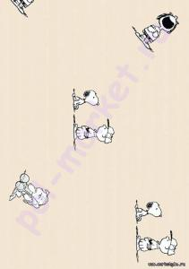 Клеевое пробковое покрытие CorkStyle (КоркСтиль), Hello Kitty&Snoopy (Хэллоу Китти Энд Снуппи), Peanuts Gang