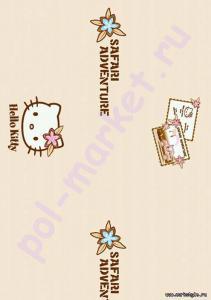 Клеевое пробковое покрытие CorkStyle (КоркСтиль), Hello Kitty&Snoopy (Хэллоу Китти Энд Снуппи), Safari
