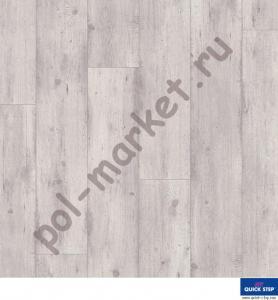 Ламинат Quick Step (Квик степ), Impressive Ultra (Импрессив Ультра, 33кл, 12мм, 4V-фаска) IMU1861, Реставрированный дуб светло-серый