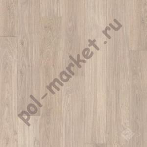 Ламинат Quick step (Квик Степ), Eligna (Элигна, 32кл, 8мм) UM1304, Доска дубовая светло-серая лакированная