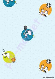 Купить HELLO KITTY&SNOPPY (клеевые) Клеевое пробковое покрытие CorkStyle (КоркСтиль), Hello Kitty&Snoopy (Хэллоу Китти Энд Снуппи), Snoopy Sports  в Екатеринбурге
