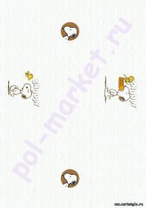 Купить HELLO KITTY&SNOPPY (клеевые) Клеевое пробковое покрытие CorkStyle (КоркСтиль), Hello Kitty&Snoopy (Хэллоу Китти Энд Снуппи), Snoopy/Woodstock  в Екатеринбурге