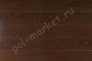 Массивная доска Amber Wood ясень шоколад 120мм
