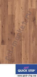 Ламинат Quick step (Квик Степ), Perspective (Перспектив, 32кл, 9.5мм, 4V-фаска) TU995 доска натурального дуба Vintage лакированная