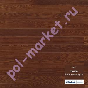 Купить TANGO 1-полосный Паркетная доска Tarkett (Таркетт), Tango (Танго), Ясень коньяк брашированный, 1-полосный   в Екатеринбурге